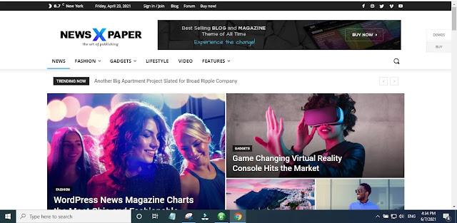 Features of Newspaper X WordPress theme