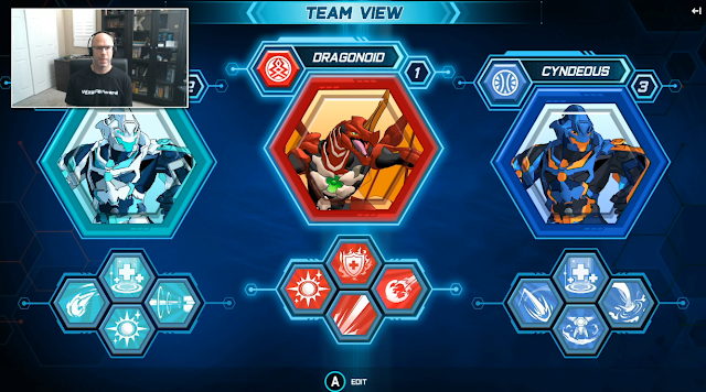Bakugan Champions of Vestroia Cyndeous Dragonoid team view screen