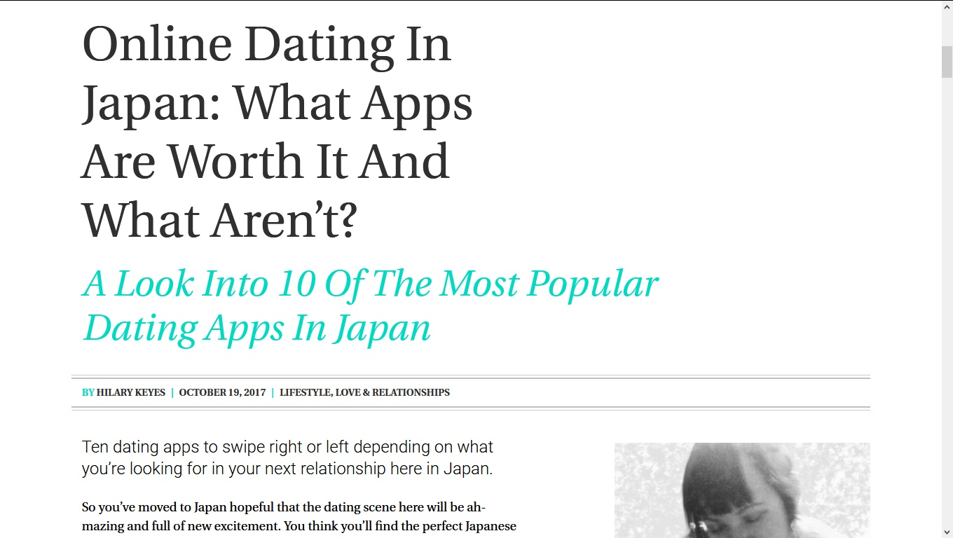 Online dating in japan