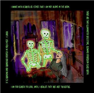 Glowing Green Skeleton Dream by Melasdesign
