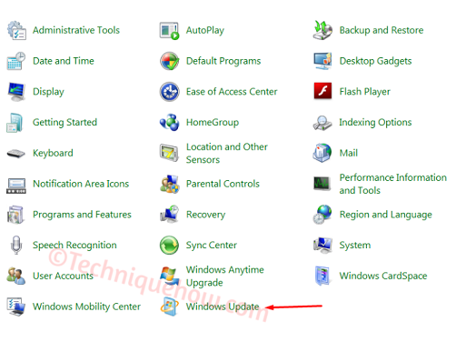 Turn off Automatic Updates on Windows 7_settings