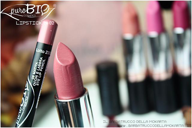 matita n 08 recednsione review lipstickn 02 rossetti purobio , lipstick, vegan makeup, bio makeup