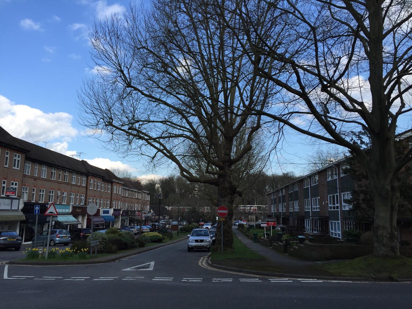 Shop parade and flats, Moor Park