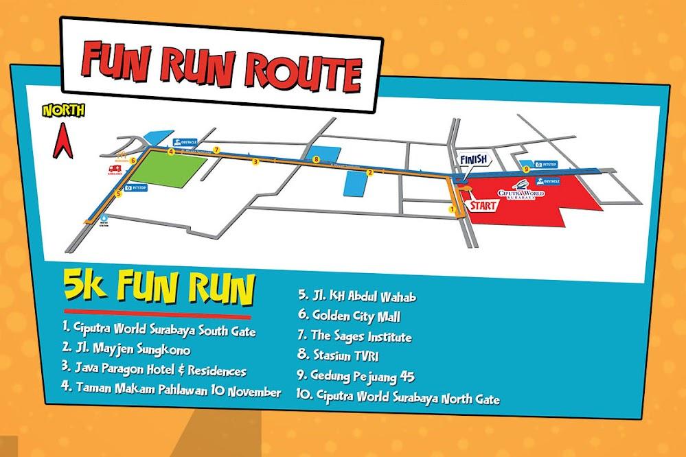 Route Justice League Fun Run • 2019