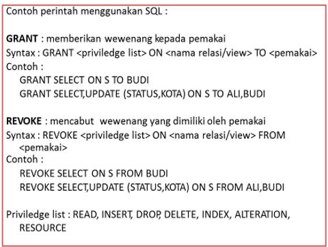 contoh perintah menggunakan SQL