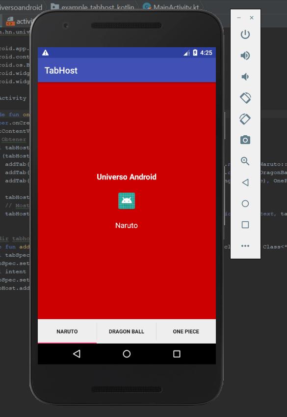 Como crear un TabHost utilizando Kotlin - Universo Android