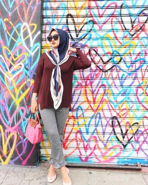 tutorial hijab segi empat simple untuk kuliah