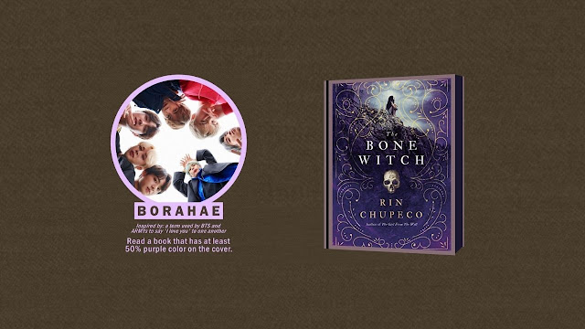 BORAHAE Prompt - Read a book that has at least 50% purple color on the cover