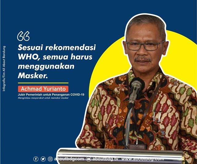 Achmad Yurianto Harus Pakai Masker-IGaboutbdgcom