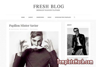 fresh blog blogger template
