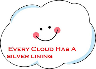 'Every cloud has a silver lining' idiom's meaning and sentence