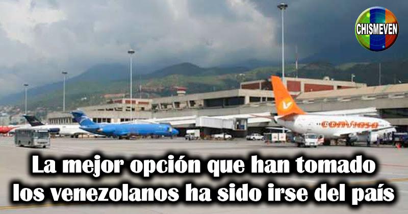 La mejor opción que han tomado los venezolanos ha sido irse del país
