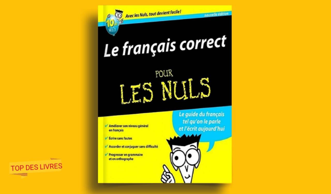 Télécharger : Le français correct pour les nuls en pdf
