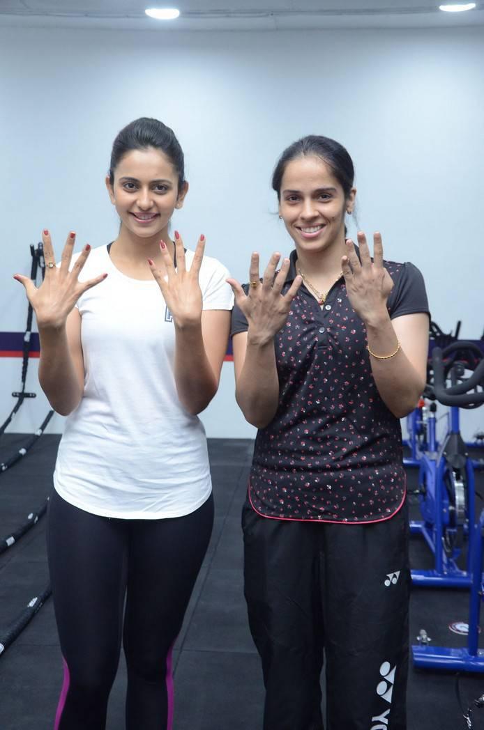 Saina Nehwal Photos At F45 Gym Launch At Kokapet