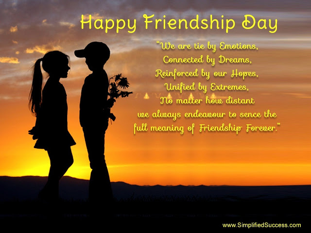 Friendship day messages and sayings 2017