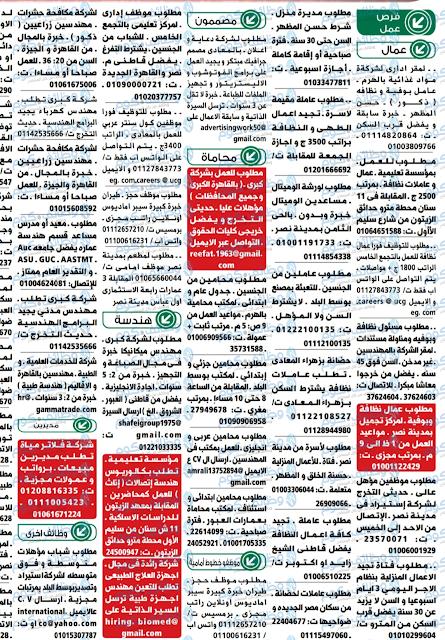 وظائف الاهرام والوسيط الجمعة 18أكتوبر18/10/2019 على موقع وظائف دوت كوم