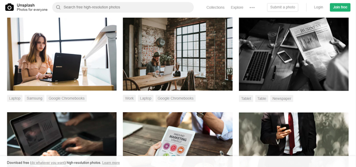 Template & Free Stock Photo Integration