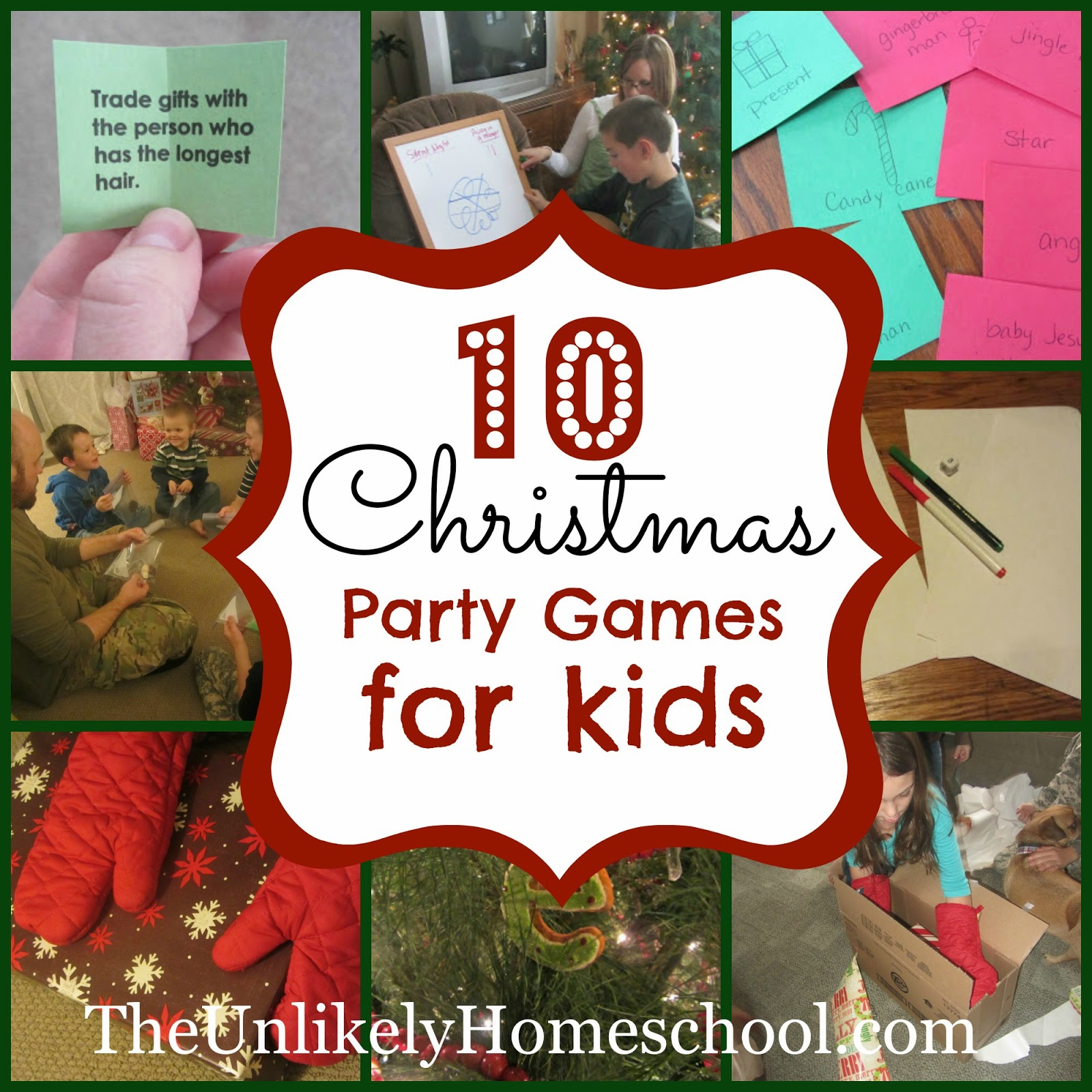 Fun Christmas Party Ideas For Adults: The Unlikely Homeschool: 10 Christmas Party Games For Kids