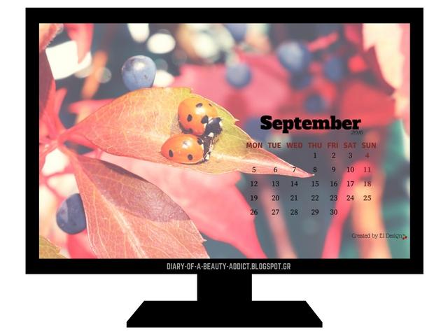FREE September 2016 Desktop Wallpaper Calendar