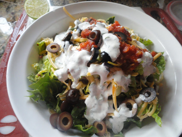 Taco Salad with Cilantro Lime Ranch Dressing from Serena Bakes Simply From Scratch.