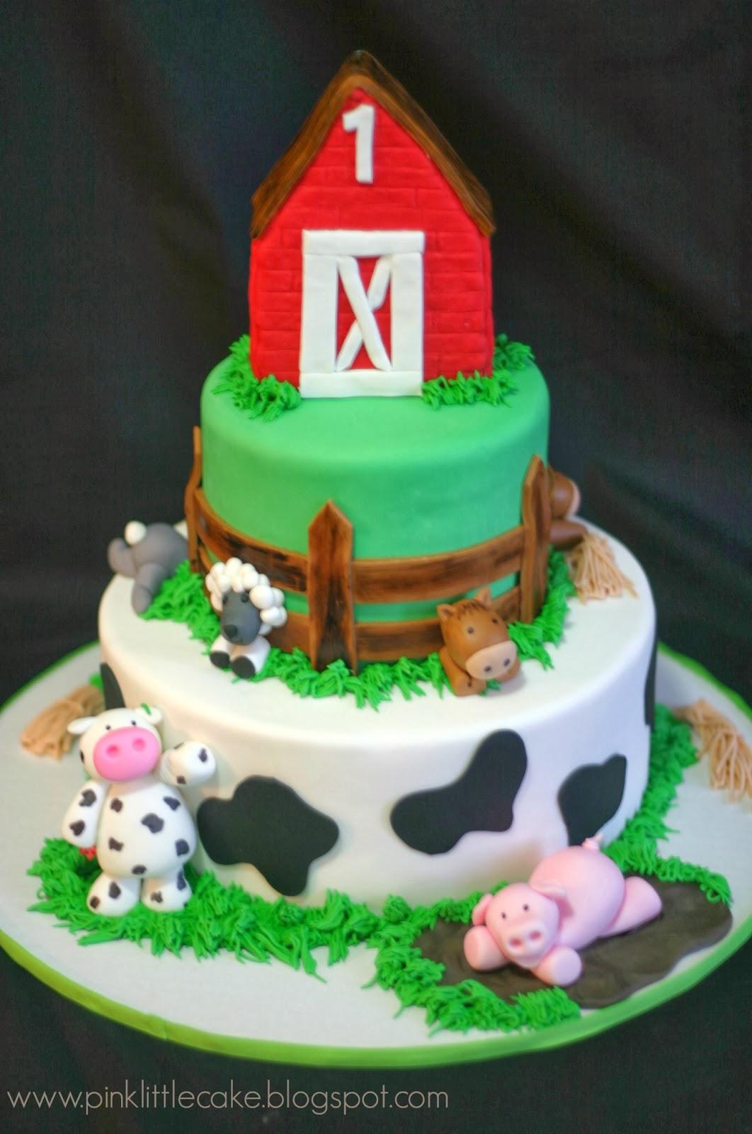 Pink Little Cake: Farm theme cake