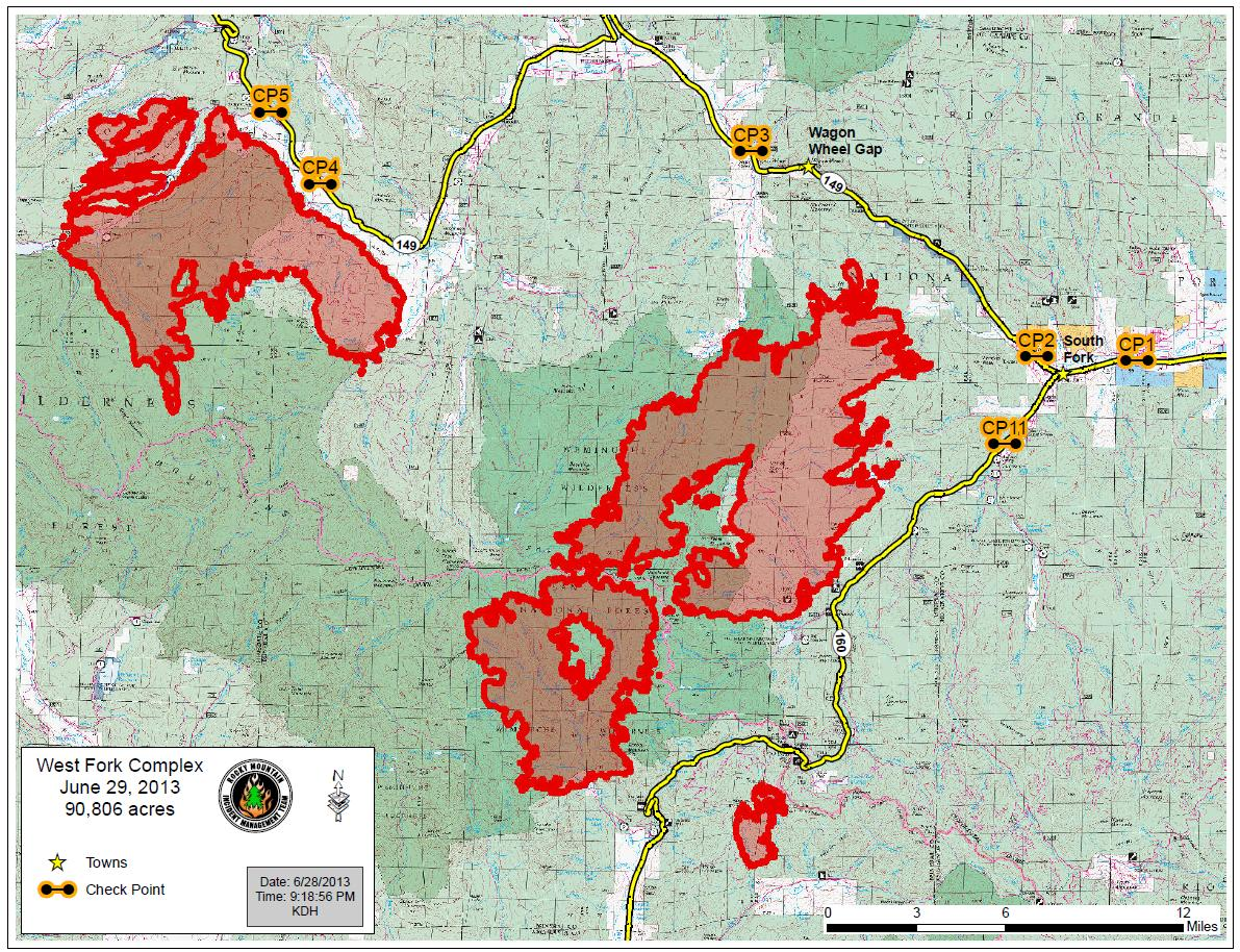 Latest Fire Map & Update for Pagosa Springs, Co. | Pagosa Springs