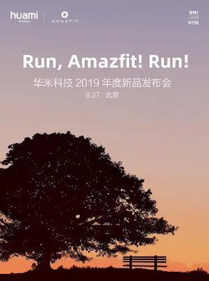 Huami's new Amazfit Watch Akan Launching 27 Agustus Membawa Apple Watch