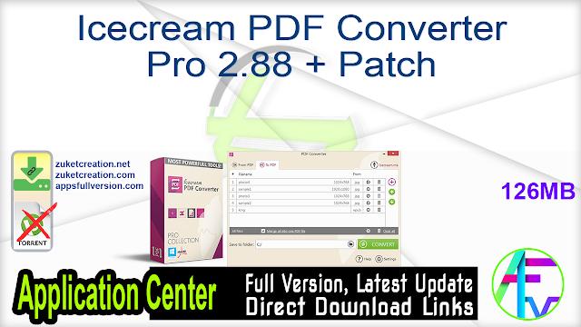 Icecream PDF Converter Pro 2.88 + Patch