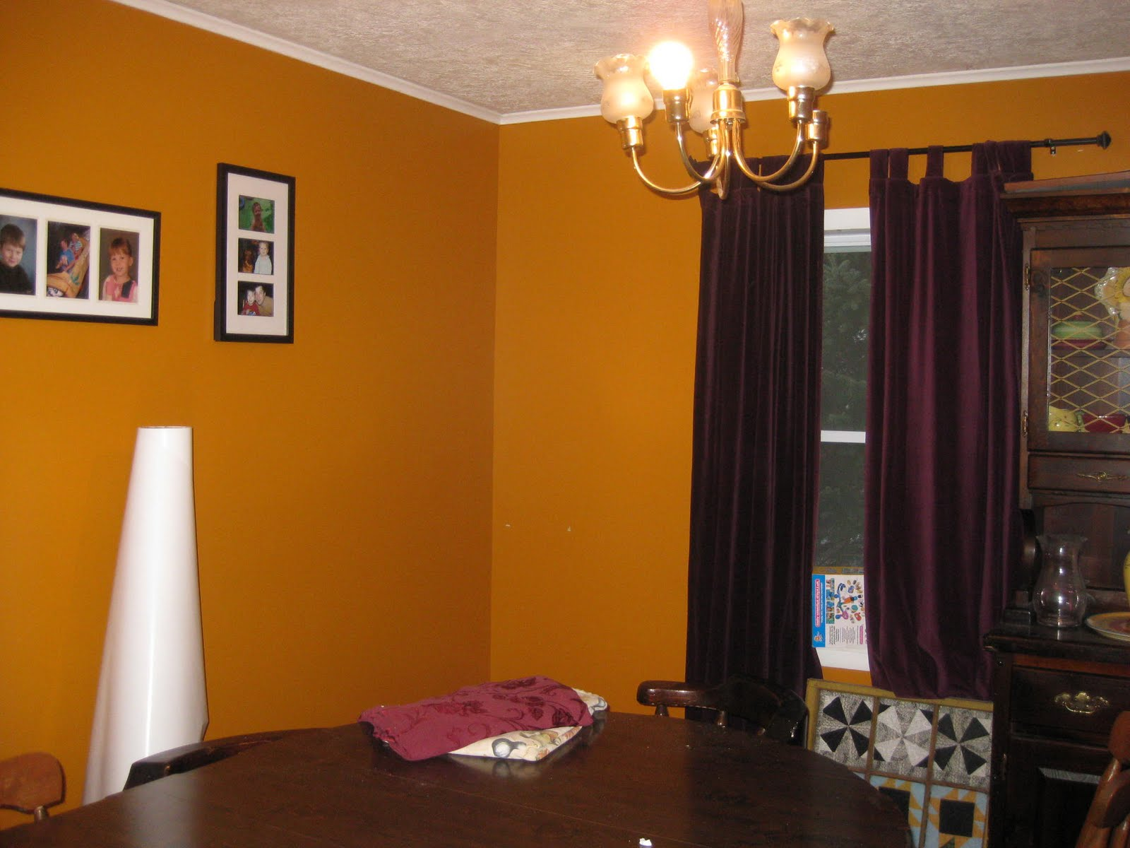 curtains for orange walls