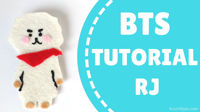 Koori Style, KooriStyle, BTS, BT21, RJ, Jin, Seokjin, Alpaca, Pin, Brooch, Broche, Felt, DIY, Tutorial, Make, Easy, Cute, Kpop, Facil, Fieltro, Plantilla, Printable