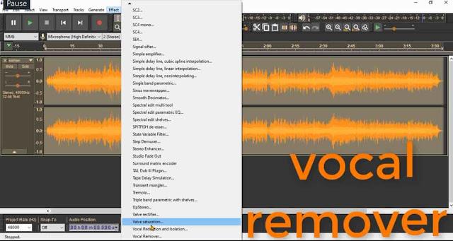 دورة تعلم وشرح برنامج أوداسيتي كيفية فصل الصوت عن الموسيقى في Audacity مؤثر karaoke