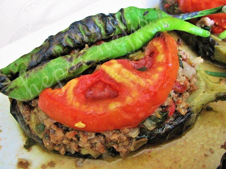 közlenmiş patlıcan karnıyarık