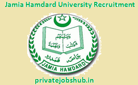 Jamia Hamdard University Recruitment