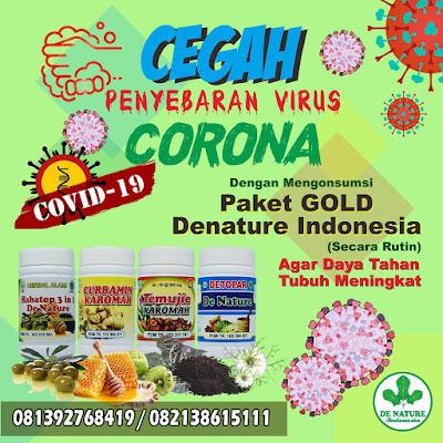 Paket herbal de nature untuk tanggal virus corona covid19