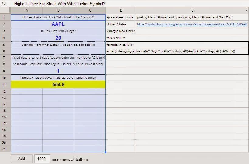 Cloud Computing -- Google Docs Way: yogi_Using Google Finance