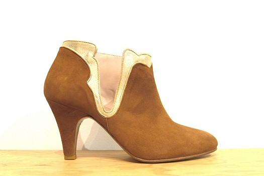 Patricia Blanchet boots Kronenberg caramel