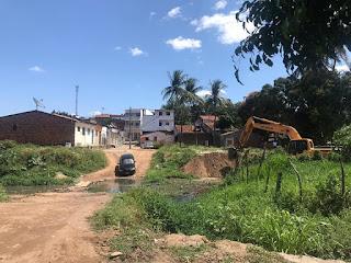 Semana inicia com obras de construção da ponte que lida Bairro Novo ao Bairro do Cordeiro em Guarabira