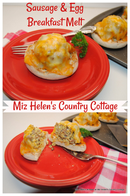 Sausage and Eggs Breakfast Melt at Miz Helen's Country Cottage