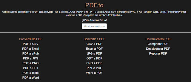 Pagina inicio - Pdf.to