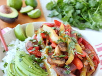 VEGGIE FAJITA RICE BOWL RECIPE