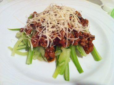 Esparguete de curgete à Bolonhesa low carb