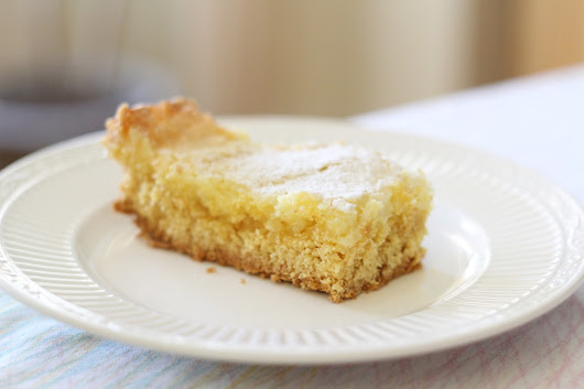 Gooey Butter Cake with Orange Liqueur