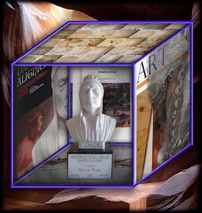Trofeo-Escultura del Premio Internacional Dante Alighieri. otorgado a Ramón Rivas (Rivismo / España)