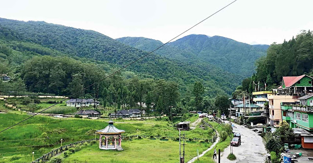 overview of Uttarey, the hamlet in West Sikkim