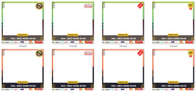 Template Bingkai Foto Produk untuk promosi produk secara Online