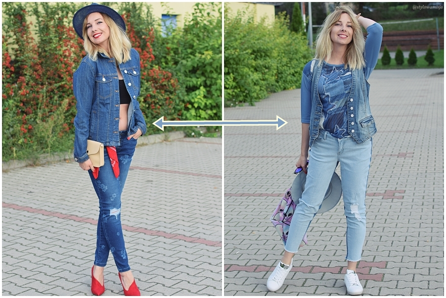 bonprix, jeans, moda, stylizacje, total look