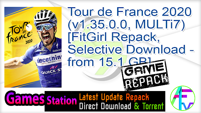 Tour de France 2020 (v1.35.0.0, MULTi7) [FitGirl Repack, Selective Download – from 15.1 GB]
