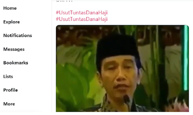Trending #UsutTuntasDanaHaji, Beredar Video Jokowi-Maruf soal Dana Haji untuk Infrastruktur