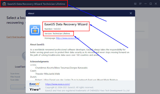 EaseUS Data Recovery Wizard Technician 14 Full Version