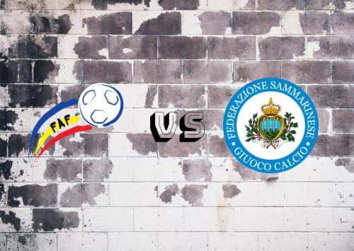 Andorra vs San Marino  Resumen
